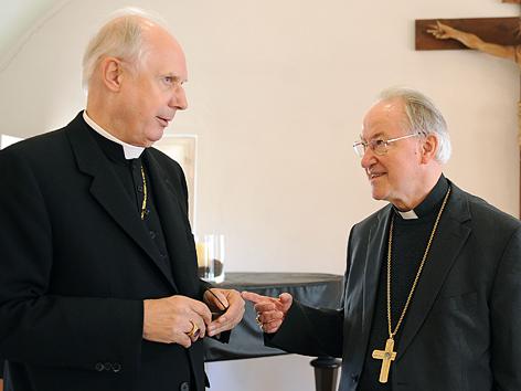 Diözesanbischof Egon Kapellari, Bischof von Graz-Seckau, und Erzbischof Alois Kothgasser, Erzbischof von Salzburg
