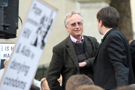 Richard Dawkin auf Anti-Papst-Kampagne