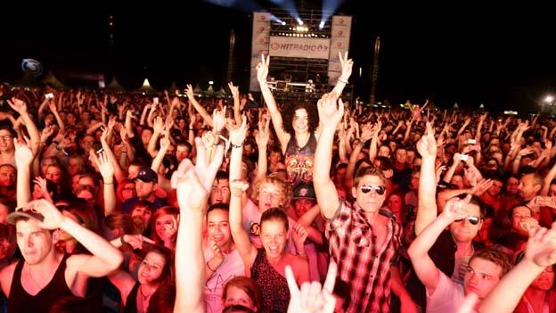 Publikum bei einem Konzert beim Donauinselfest 2013