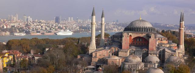Luftaufnahme der Hagia Sophia in Istanbul