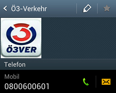 Kontakt zur Ö3-Verkehrsredaktion via Telefon