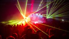 Lichtshow bei einem Ö3-Event