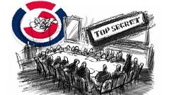 Die geheimen Sitzungsprotokolle der Bundesregierung Logo