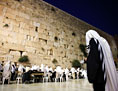 Juden beten an der Klagemauer.