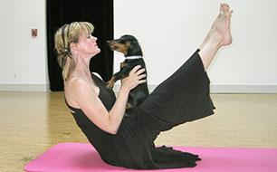 Yoga und Hund