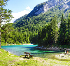 Der grüne See in Tragöss