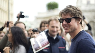 Hollywood Star Tom Cruise vor der Oper