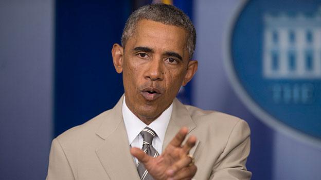 Obama Anzug beige