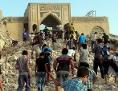 Zerstörtes Grab in Mossul