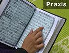 Ein aufgeschlagener arabischer Koran