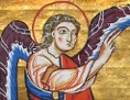 Verkündigung an Maria, Liutold-Evangeliar, Mondsee, um 1170