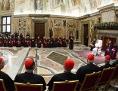 Der Papst mit der Kurie