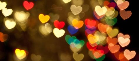 Herzen zum Valentinstag