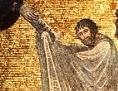 Moses empfängt die Gesetzestafeln: Darstellung im Katharinenkloster (Sinai)