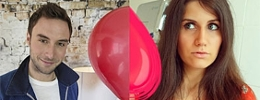 Mans Zelmerlöw mit rotem Luftballon