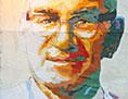 Ein Gemälde-Porträt von Oscar Romero