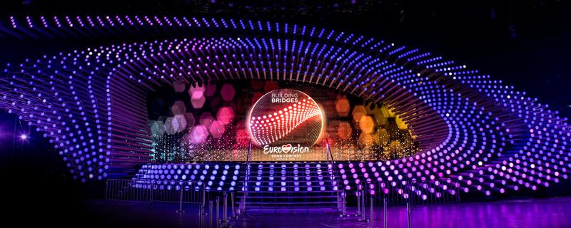 Song Contest Bühne in der Stadthalle