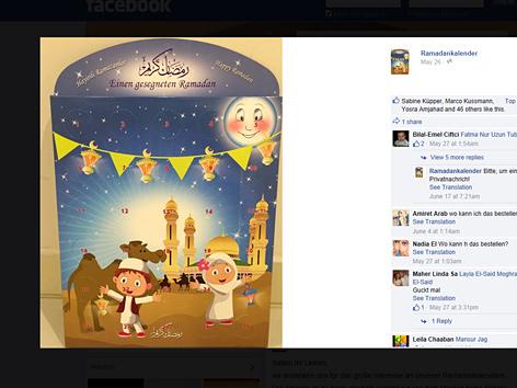 Ramadankalender auf Facebook