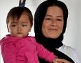 Asylwerberin mit Kind