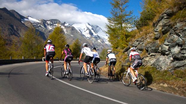 Fahrradfahrer auf dem Großglockner