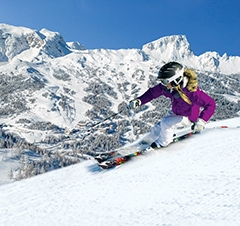 Skigirl am Trogkofel