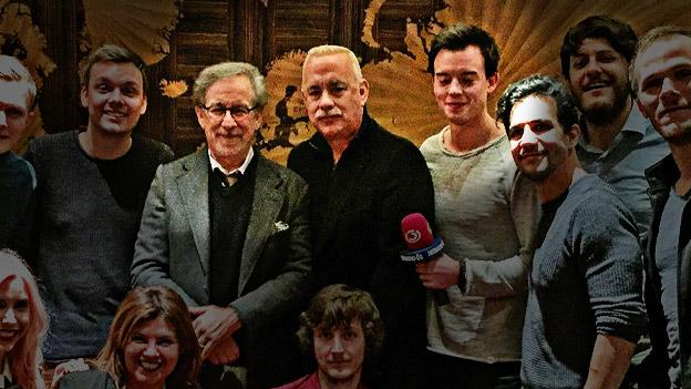 Philipp Hansa mit Tom Hanks und Steven Spielberg