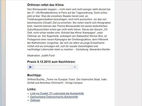 """Screenshot einer """"Praxis""""-Sendung"""