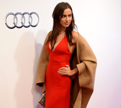 Model Irina Shayk bei der Audi Night in Kitzbühel