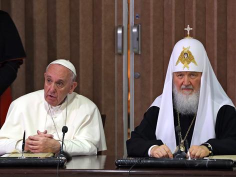 Papst Franziskus und Patriarch Kyrill I.
