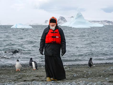 Der russisch-orthodoxe Patriarch Kyrill I. in der Antarktis