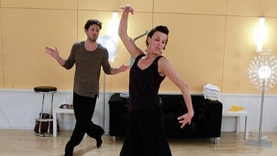 Sabine Petzl und Thomas Kraml bei der Probe zum Slowfox