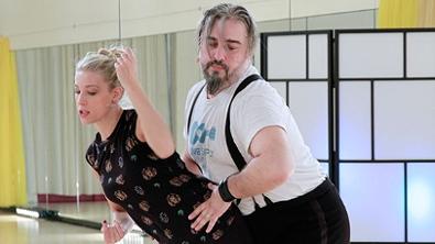 Georgij Makazaria und Maria Santner bei der Probe des Cha Cha Cha