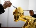 Die vergoldete Mumie des Mönchs Fu Hou in China