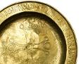 Patene (liturgisches Gefäß) mit Kreuzdekor, 9. Jahrhundert, Gold, Durchschnitt 20,5 cm