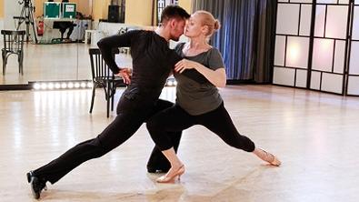 Verena Scheitz und Florian Gschaider bei der Tango Probe
