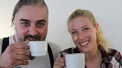 Georgij Makazaria und Maria Santner