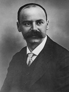 Porträtfoto des deutschen Astronomen Karl Schwarzschild