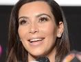 Kim Kardashian während einer Pressekonferenz