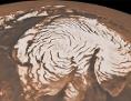 Nordpol des Mars: Spiralförmige Eisstrukturen