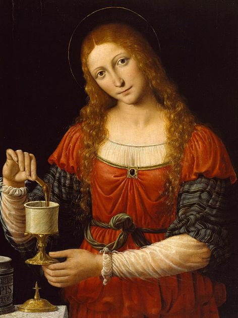 Maria Magdalena: Gemälde von Andrea Solari (etwa 1524)