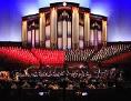 Der Mormon Tabernacle Choir bei einer Aufführung