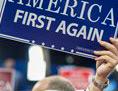 """Ausschnitt des Slogans für Donald Trump """"Make America first again"""""""