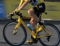 Radfahrer Christopher Froome im gelben Trikot der Tour de France