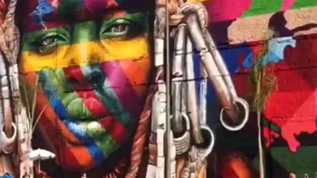 3000 Quadratmeter großes Graffiti-Kunstwerk