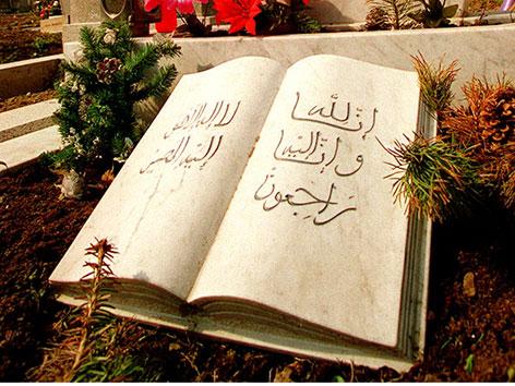 Grabstein am islamischen Friedhof im Zentralfriedhof