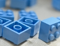 Hellblaue Legosteine