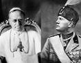 Fotomontage: Papst Pius XI. und Benito Mussolini
