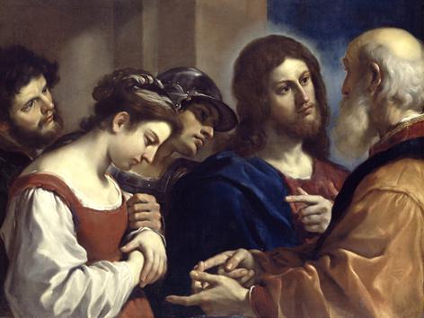 Guercino (1591-1666): Christus und die Ehebrecherin (Dulwich Picture Gallery)