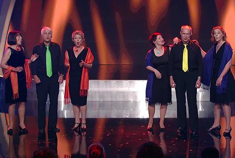 Auftakt auf der Bühne