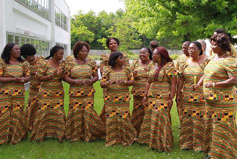 Ghana Minstrel Choir offstage